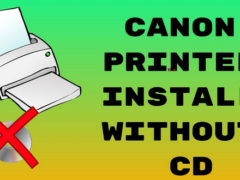 Canon printer setup without Disc or CD